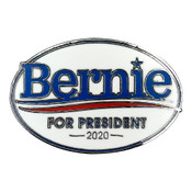 Bernie For President 2020 Lapel Pin Hard Enamel Silver