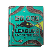 Classic Novels - 20000 Leagues Under The Sea Lapel Pin Soft Enamel Black Nickel