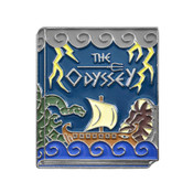 Classic Novels - The Odyssey Lapel Pin Soft Enamel Black Nickel