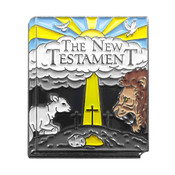 Classic Novels - The New Testament of the Bible Lapel Pin Soft Enamel Black Nickel