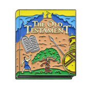 Classic Novels - The Old Testament of the Bible Lapel Pin Soft Enamel Black Nickel