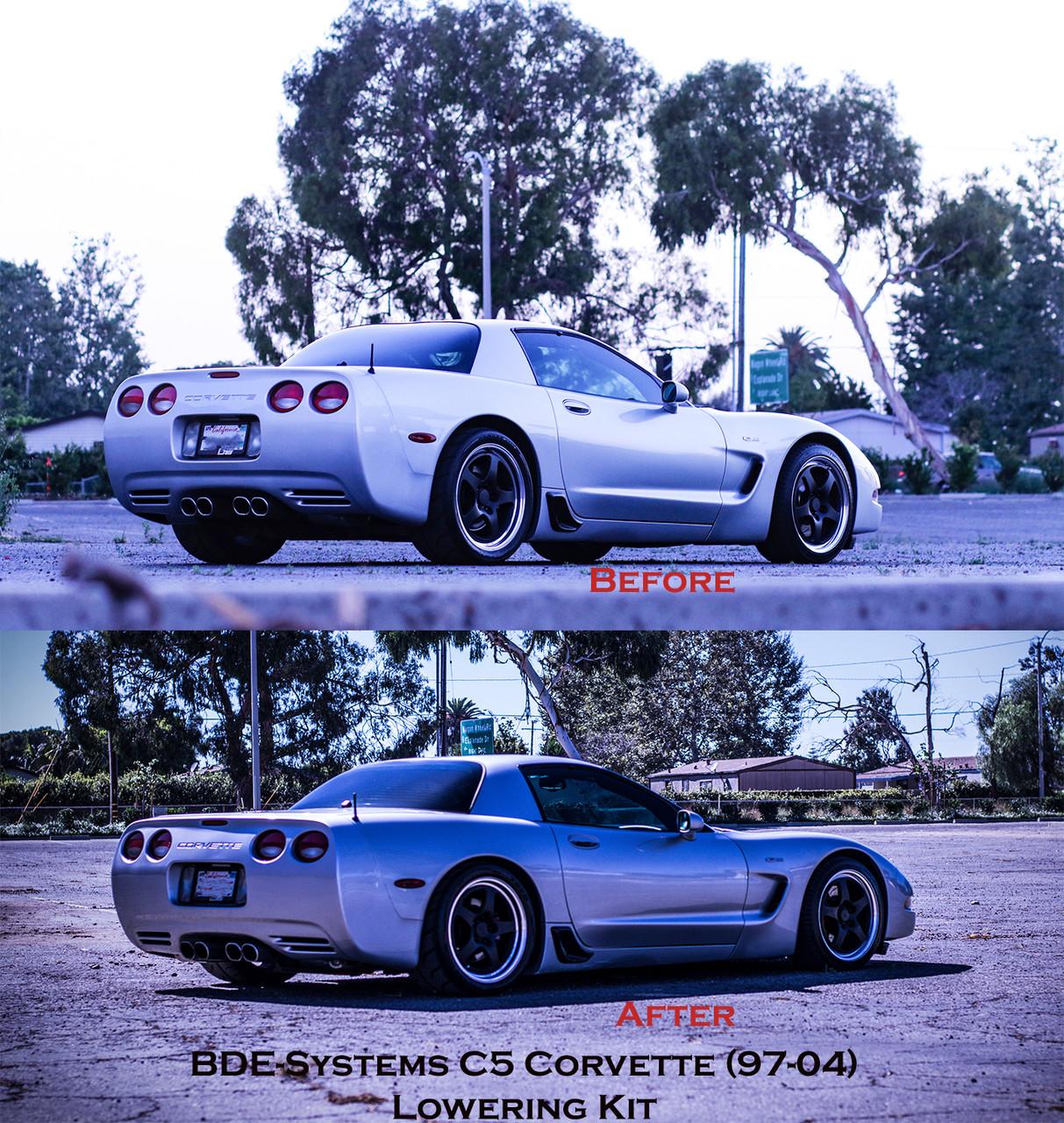 1997 to 2004 Corvette C5 Complete Lowering Suspension Kit