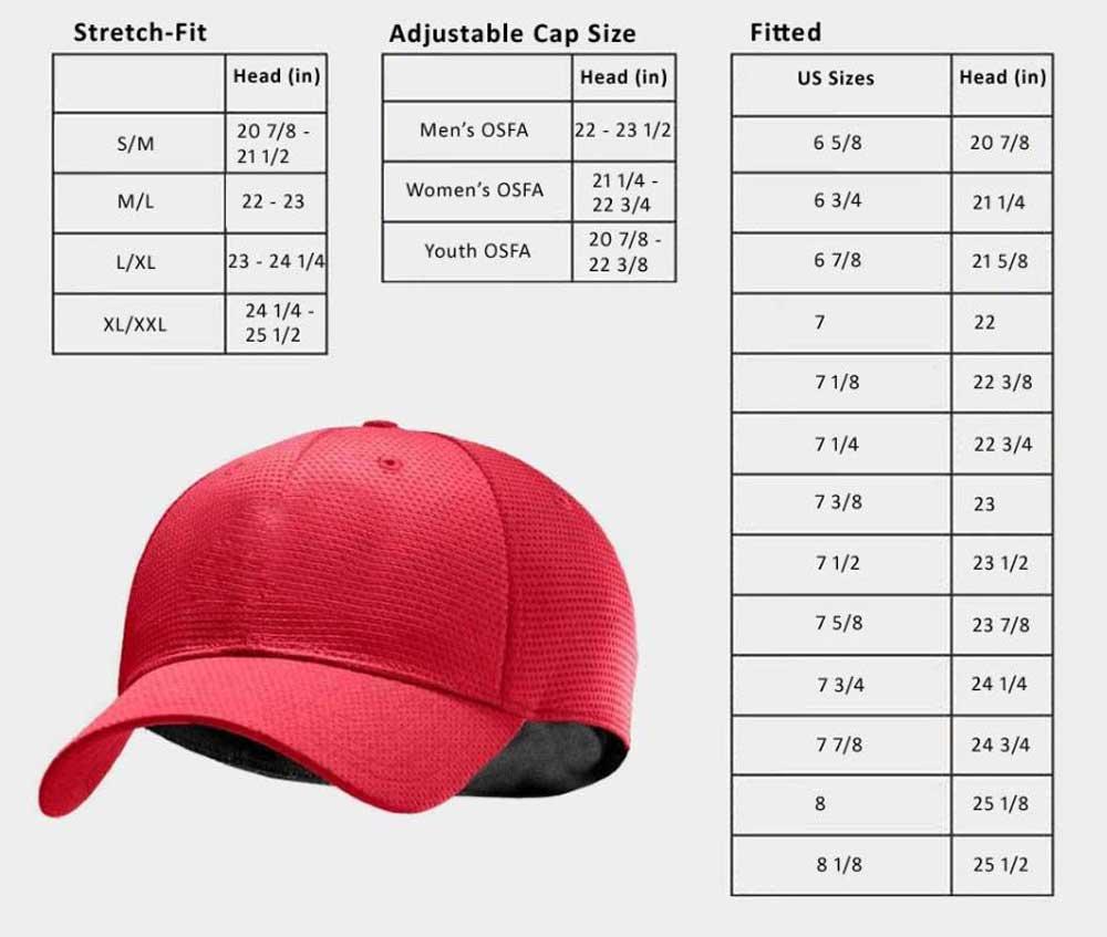 Headwear Size Chart from Sports Diamond