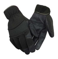 Northstar Suede PU Palm Lightweight Work Gloves Unisex Fleece Lined Black 59BK