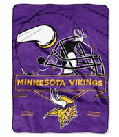 The Northwest NFL Minnesota Viking Prestige Raschel Blanket Throw Spread Stadium