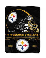 Northwest NFL Pittsburgh Steelers Prestige Raschel Blanket Throw Spread Stadium