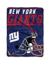 The Northwest NFL New York Giants Micro Raschel Throw Blanket 40 Yard Dash