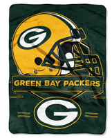 Northwest NFL Green Bay Packers Prestige Raschel Blanket Throw Spread Stadium