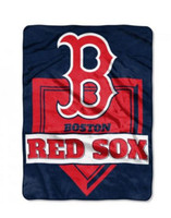 The Northwest MLB Boston Red Sox Throw Blanket Home Plate Raschel Bed Spread