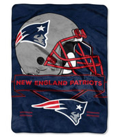 The Northwest NFL New England Patriots Prestige Raschel Blanket Throw Stadium