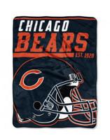 The Northwest NFL Chicago Bears Micro Raschel Throw Blanket 40 Yard Dash