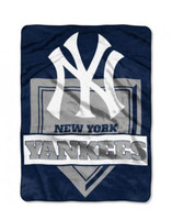 The Northwest MLB New York Yankees Throw Blanket Home Plate Raschel Bed Spread