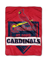 The Northwest MLB St Louis Cardinals Throw Blanket Home Plate Raschel Bed Spread