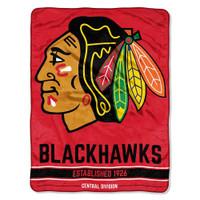 The Northwest NHL Chicago Blackhawks Breakaway Micro Raschel Throw Blanket