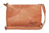 Rawlings Women's Crossbody Mini Bag Purse Baseball Stitch Tan Leather MW471-204