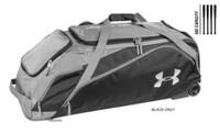 Under Armour UA Unisex On Deck Baseball Roller Equipment Bag Black UASB-ODRB2