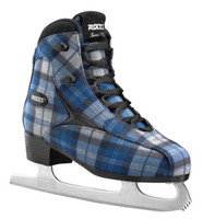 Roces Women's Logger Ice Skates Superior Italian Navy/Gray Plaid 450647 00001