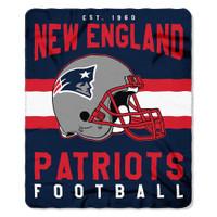 "The Northwest NFL New England Patriots Singular Plush Throw 50""x60"" Blanket"