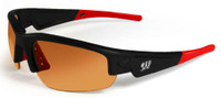 MAXX Dynasty 2.0 University of Wisconsin Badgers Sunglasses NCAA Collegiate Red