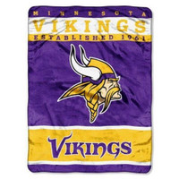 "The Northwest NFL Minnesota Vikings 12th Man Plush Rashel Throw 60""x80"" Blanket"