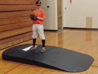 Portolite Indoor Full Wind-Up Portable Baseball Pitching Mound, Black. OSM-2275