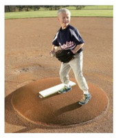 "Portolite 6"" High Portable Baseball Pitching Game Mound 48""x68x6""H IOP-6672-Clay"