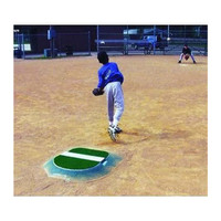 "Portolite Economy 4"" Youth Portable Baseball Pitching Mound  IOP-4434-Clay"