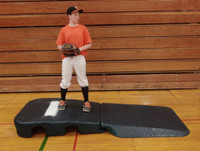 "Portolite Indoor 10"" Portable Baseball Practice Pitching Mound, Black. IPM-2250"
