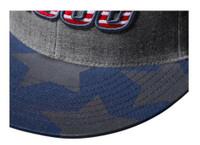Wilson A2000 Patriotic Flag Heather Baseball Cap Hat Snapback WTA7104GYOSFM
