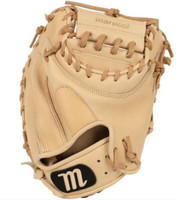 "Marucci Baseball Catcher's Glove Mitt 35"" Solid 2-Piece Web RHT Founders Series"