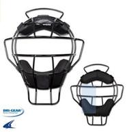 Champro Pro-Plus Aluminum Lightweight Umpire Mask Dri-Gear Ump Black/Silver CM82
