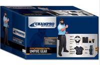 Champro Sports Varsity Umpire Kit Uniform Equipment Mask Pads Black CBSUVK