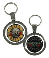 Guns N Roses Neon Bullet Spinner KeyChain Key Chain Rock n Roll Bands 912160053