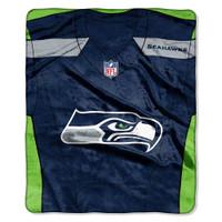 "The Northwest NFL Seattle Seahawks Royal Plush Raschel 50""x60"" Throw Blanket"