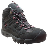 AdTec Women's Composite Toe Suede Biker Work Hiker Boot Shoe Gray/Pink 2010C