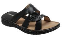 AdTec Women's Shaboom Comfort Sandal Slip-On Faux Leather Beach Shoe 8741-BK
