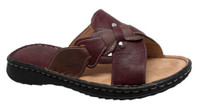 AdTec Women's Shaboom Comfort Sandal Slip-On Faux Leather Beach Shoe 8739-RB
