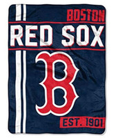 "The Northwest MLB Boston Red Sox Throw Blanket Plush Walk Off 46""x60"" Navy"