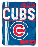 "The Northwest MLB Chicago Cubs Throw Blanket Plush Walk Off 46""x60"" Royal Blue"