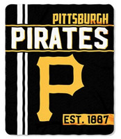 "The Northwest MLB Pittsburgh Pirates Throw Blanket Plush Walk Off 46""x60"" Black"