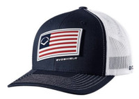 Evo Shield Salute Snapback Baseball Cap Hat Logo Adjustable Patriotic Flag Navy