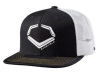 Evo Shield Crunch Snapback Baseball Cap Hat Logo Adjustable Flat Bill Black