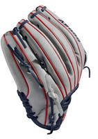 "Wilson Fastpitch Softball 12"" Glove Mitt Infield A2000 SR32 2019 RHT Gray/Navy"