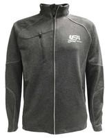 USA Hockey Men's Zip Gravity Performance Fleece Jacket Athletic Sweatshirt Gray