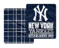 "The Northwest MLB Home Field Double Sided 50""x60"" Cloud Throw, New York Yankees"