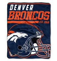 """The Northwest NFL 40 Yard Dash Micro Raschel 46""""x60"""" Blanket, Denver Broncos"""