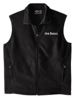 Jack Daniels Men's Fleece Vest Full Zip Logo Whiskey Liquor 15241065JD-89