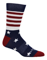 Cameo Men's Novelty USA Stars & Stripes Comfort Crew Socks, One Pair 7249-NAVY