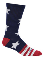 Cameo Men's Novelty USA Stars & Stripes Crew Socks, One Pair 7247-NAVY