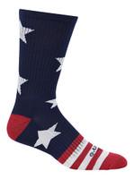 Cameo Men's Novelty USA Stars & Stripes Crew Socks, One Pair 7247-NAVY